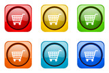 Modern design colorful web icon set.. Mobile app buttons.