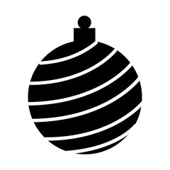 christmas ball decoration isolated icon vector illustration design