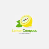 Lemon Compass Logo Template