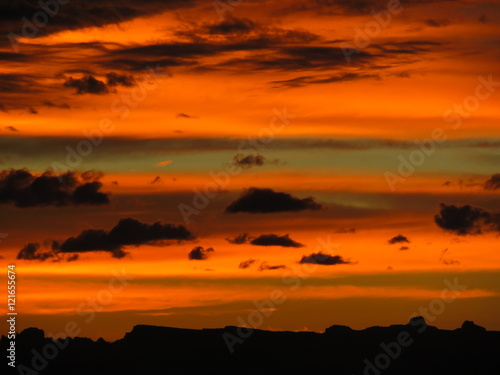 Poster Oranje eclat Dusk in Utah