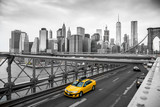 taxi crossing brooklyn bridge  © jon_chica