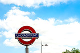 Street view of London underground in London, England, United Kin