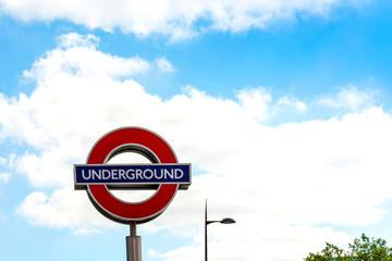 Street view of London underground in London, England, United Kin
