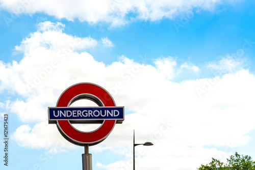 Foto op Canvas Londen Street view of London underground in London, England, United Kin