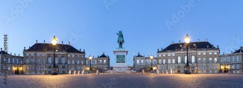 Amalienborg Palace in Copenhagen by night
