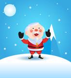 Vector illustration on a Christmas theme with Santa Claus