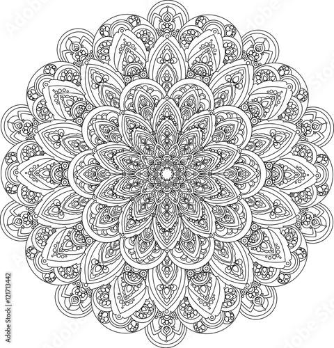Decorative vintage vector ornament. Ornate mandala