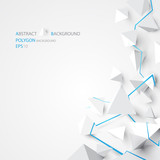 Abstract geometric pyramids with blue lines elements background - 121723487