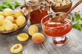 Fresh apricots jam