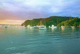 Sunrise at the Bay of Islands, North Island, New Zealand.