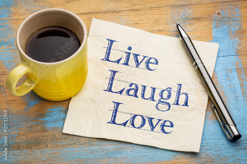 Live, laugh, love - napkin concept Poster
