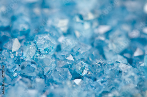 Blue crystals Agate mineral its blurred natural background