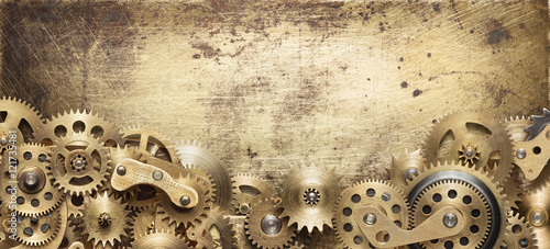 Mechanical collage made of clockwork gears © donatas1205