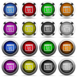 Webshop application glossy button set