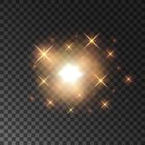 Fototapety Glittering golden star light sparks
