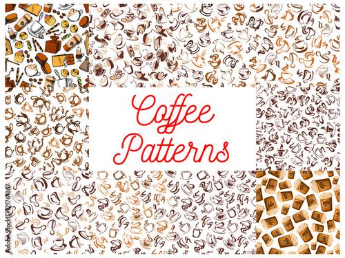 Coffee seamless pattern backgrounds