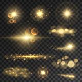 Golden glitter bokeh lights and sparkles - 121762087