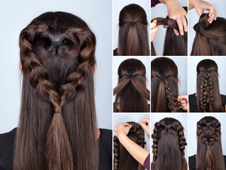 braid heart hairstyle tutorial © alter_photo