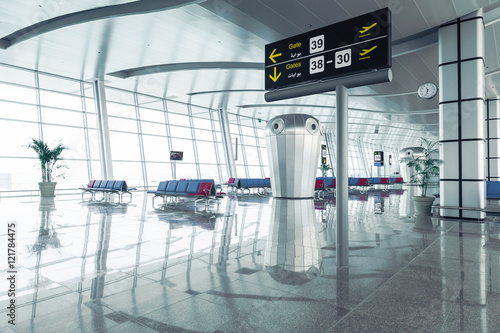 Fototapeta Modern Airport Departure Lounge