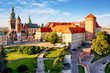 Leinwanddruck Bild - Krakow - Wawel castle at day