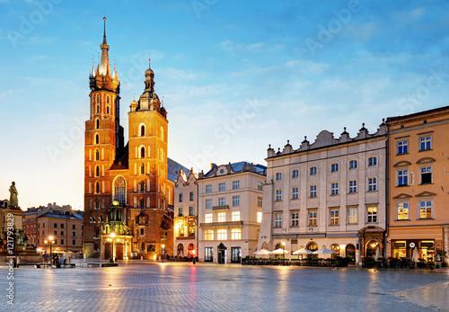 Zdjęcia na płótnie, fototapety na wymiar, obrazy na ścianę : Poland city, Krakow at sunsrie