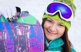 portrait of girl snowboarder