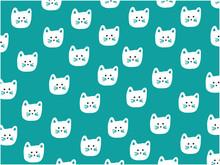 Kot twarz wzór, ilustracji wektorowych