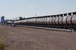 Tank Cars Being Loaded With Crude Oil