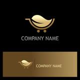 gold leaf organic cart logo