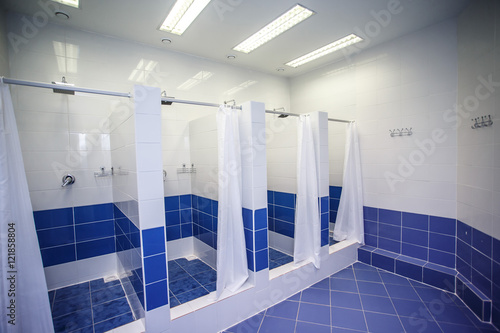 Shower room with cabins in a gym buy photos ap images detailview