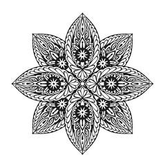 Ornament ethnic mandala. Vector illustration