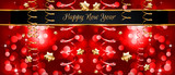 Christmas Vintage Classic Background with balls and star lights