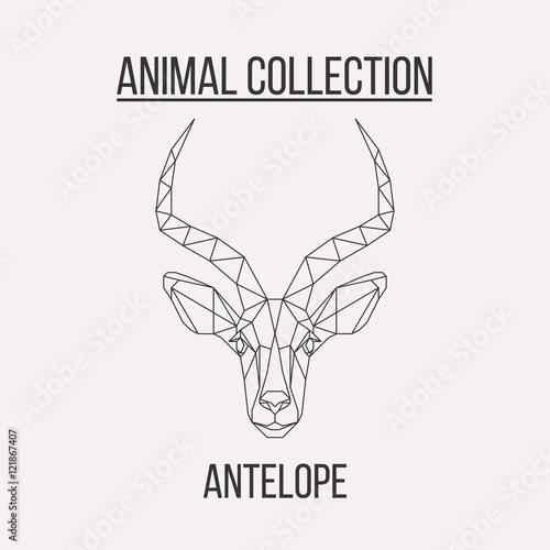 Fotobehang Hipster Hert Geometric antelope head