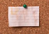 note paper corkboard label message post it