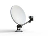 White TV satellite dish