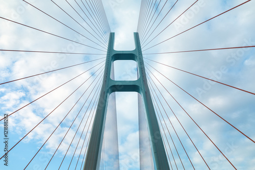 cable-stayed bridge closeup - 121888282