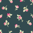 Seamless pattern with pink flowers. Floral background with buds