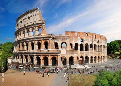 Colosseum in summer