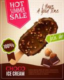 Ice Cream Summer Sale Illustration