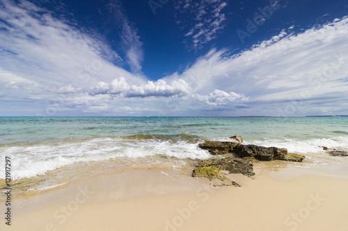 plage de sable es cavallet, ses salines, Ibiza, Baléares