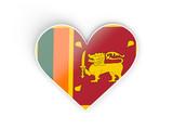Flag of sri lanka, heart shaped sticker