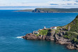 Lighthouse and derelict Fort Amherst outside St. John's Newfound