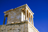 Temple of Athena Nike, the earliest fully Ionic temple on the Acropolis of Athens, Greece.
