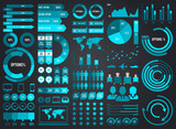 Mega Pack and Set Infographic Elements Vector Design Eps 10 - 121951005