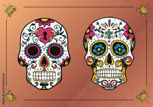 Decorated Skulls La Calavera Catrina Buy Photos Ap Images