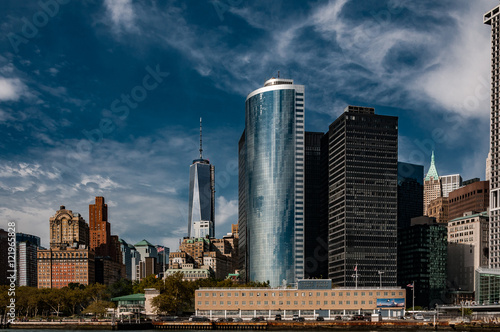 One World Trade Center building from the Hudson River in New York City Poster