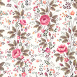 seamless floral rose pattern on white background