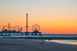 Galveston sunrise on beach
