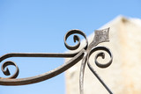 Wrought iron working detail