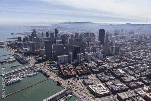 Aerial View San Francisco Urban Cityscape